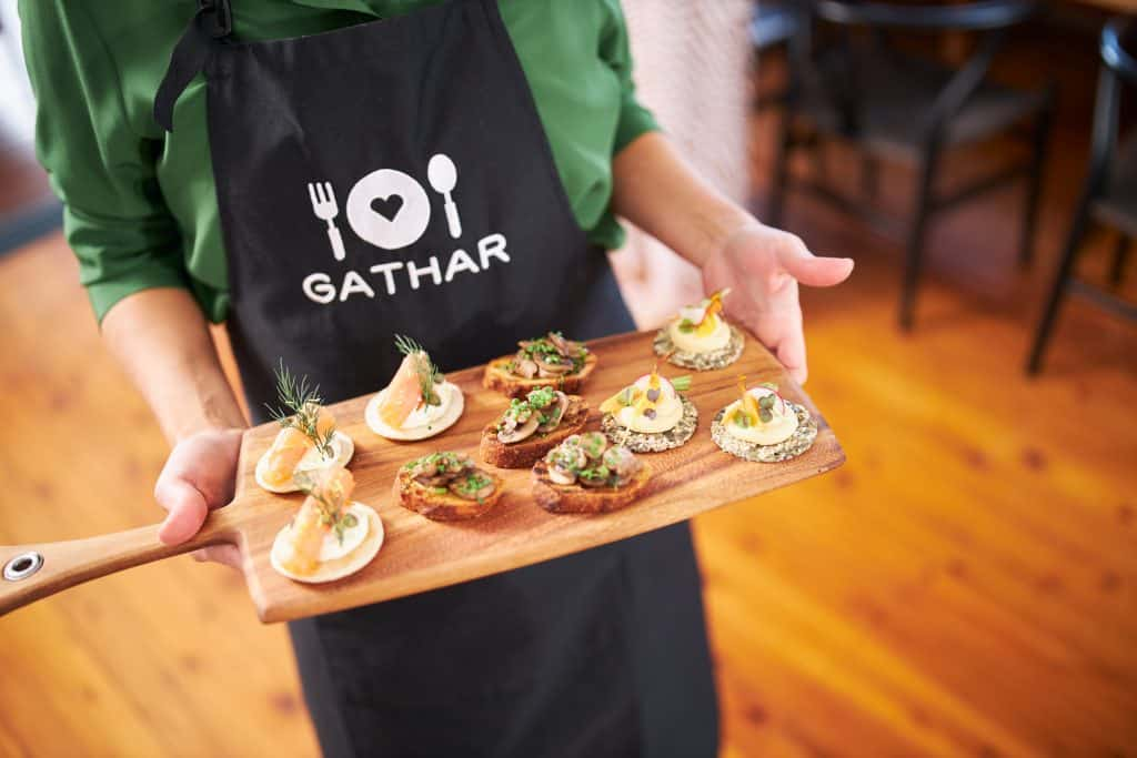 Gathar Chef At Home With Canapes